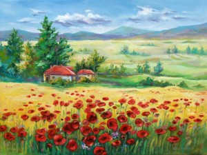pictura-peisaj-cu-maci-266186